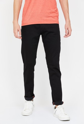 KILLER Men Solid Slim Fit Jeans with Whiskers