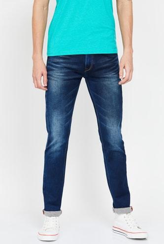 KILLER Men Stonewashed Slim Fit Jeans