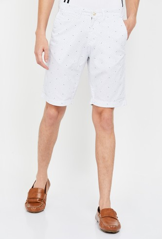 ALLEN SOLLY Men Printed Regular Fit Casual Shorts