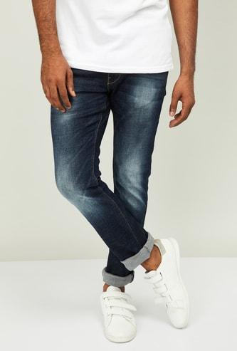 FLYING MACHINE Men Stonewashed Slim Tapered Fit Jeans