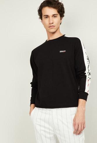 PROLINE Men Printed Sleeves Sweatshirt