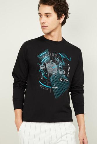 PROLINE Men Chest Print Full Sleeves Sweatshirt