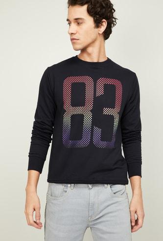 PROLINE Men Printed Full Sleeves Sweatshirt