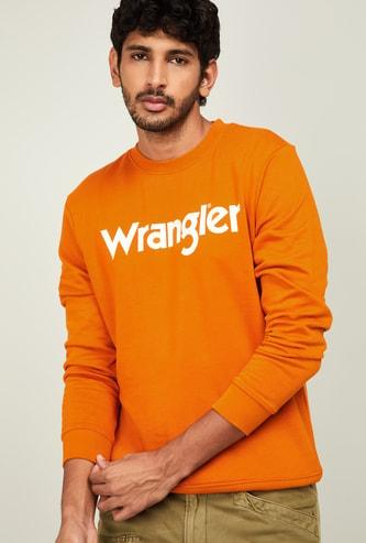 WRANGLER Men Typographic Print Full Sleeves Sweatshirt