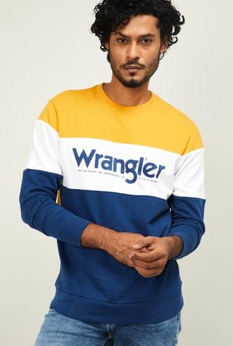 WRANGLER Men Colorblocked Crew Neck Sweatshirt