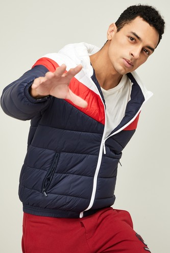 UNITED COLORS OF BENETTON Men Colorblocked Puffer Jacket