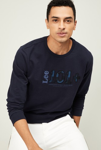 LEE Men Printed Full Sleeves Sweatshirt