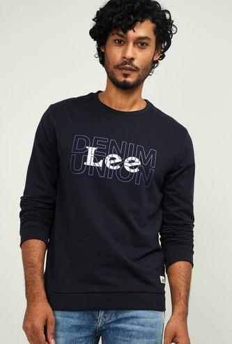 LEE Men Printed Crew Neck Sweatshirt