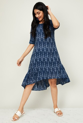 MELANGE Women Printed A-line Dress