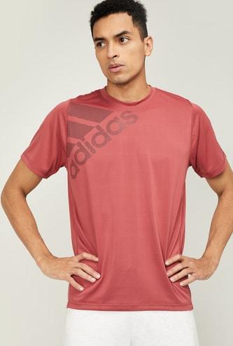 ADIDAS Men Printed Regular Fit Crew Neck T-shirt