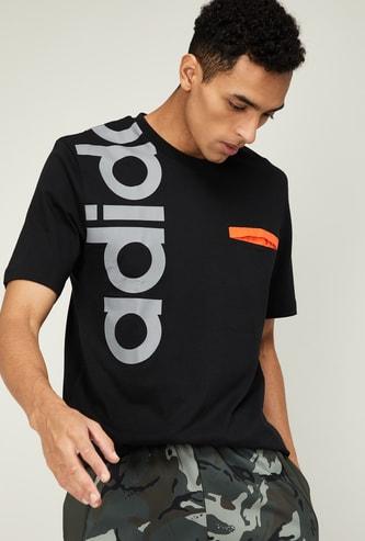 ADIDAS Men Printed Regular Fit T-shirt