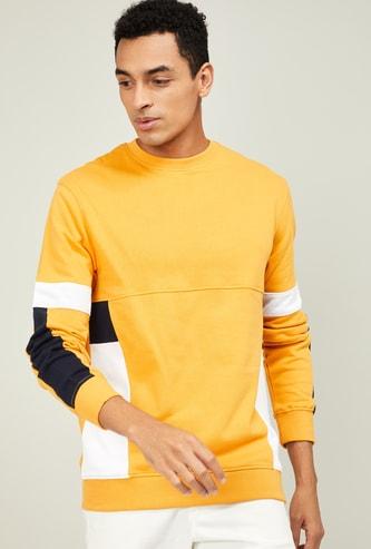 CELIO Men Solid Crew Neck Sweatshirt