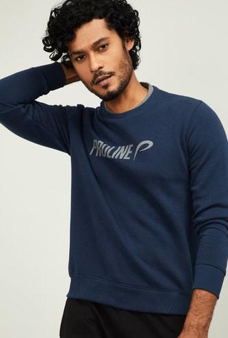 PROLINE Men Typographic Print Crew-Neck Sweatshirt