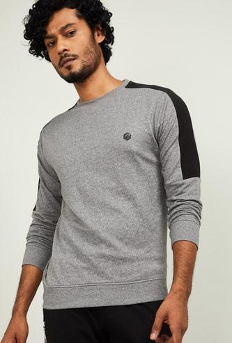 PROLINE Men Textured Crew-Neck Sweatshirt