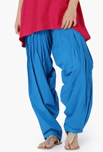 MAX Solid Woven Patiala Trousers