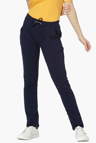 MAX Solid Knitted Pleated Track Pants
