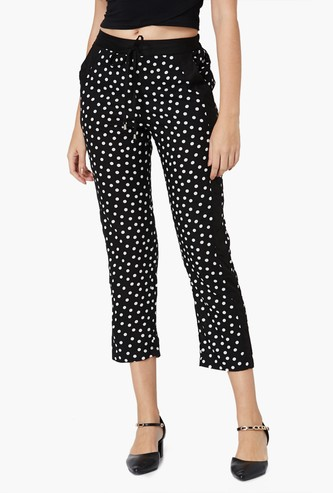 MAX Polka Printed Panelled Pants