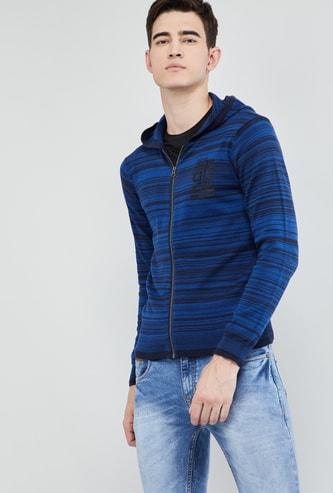 MAX Striped Zip Closure Sweater