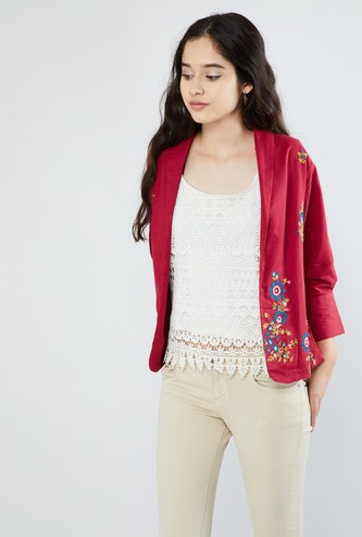MAX Embroidered Lapel Collar Jacket