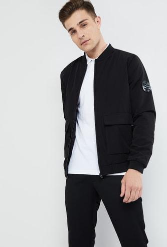 MAX Printed Zip-Up Bomber Jacket