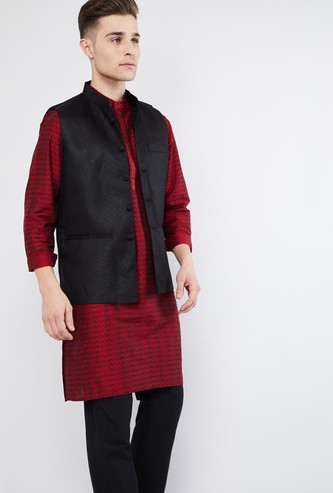MAX Textured Nehru Jacket