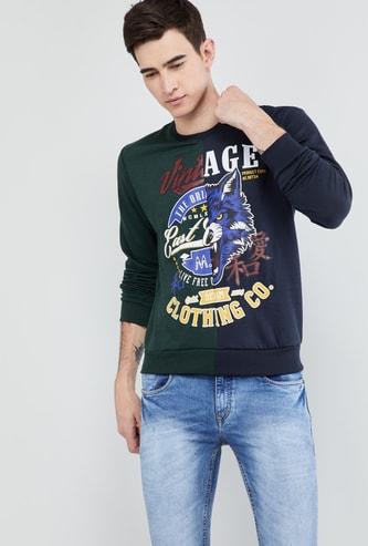 MAX Printed Crew-Neck Sweatshirt