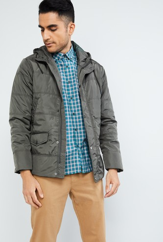 MAX Quilted Full Sleeves Bomber Jacket