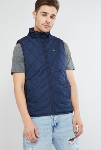 MAX Solid Hooded Reversible Bomber Jacket