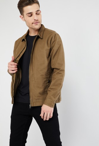 MAX Solid Jacket with Zip Pockets