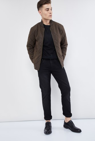 MAX Padded Quilted Bomber Jacket