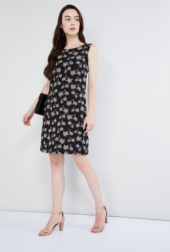 MAX Scooter Print Shift Dress