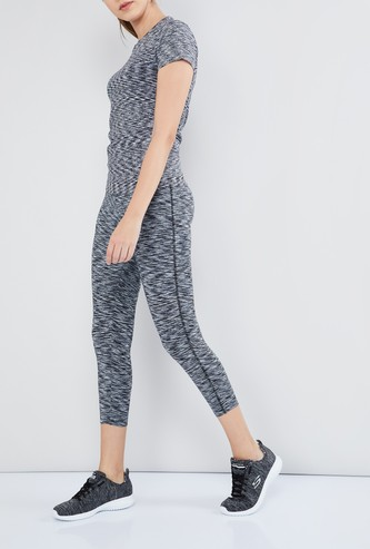 MAX Patterned Skinny Fit Training Capris