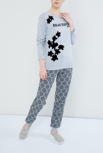 MAX Floral Print Track pants