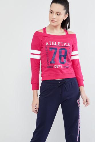 MAX Typography Print Layered Sweatshirt