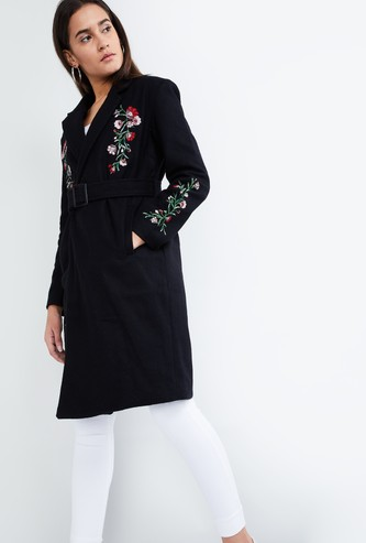 MAX Embroidered Long Coat