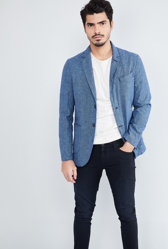 MAX Textured Single-Breasted Blazer