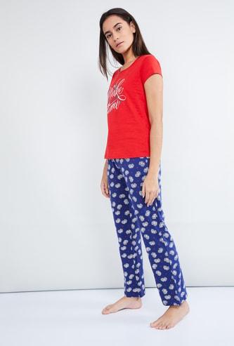 MAX Floral Print Pyjama Set