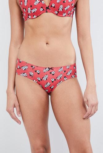 MAX Mickey Mouse Print Bikini Panties