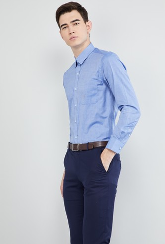 MAX Solid Formal Full Sleeves Shirt