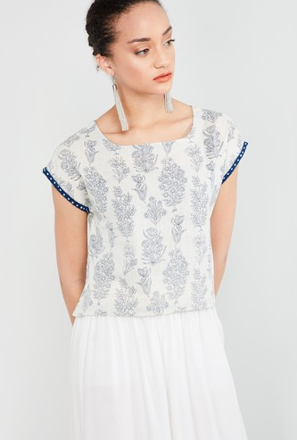 MAX Printed Ethnic Top