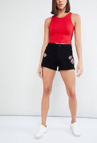 MAX Embroidered Casual Shorts