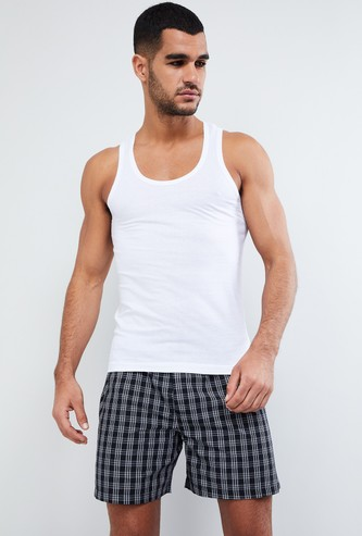MAX Solid Cotton Racerback Vest