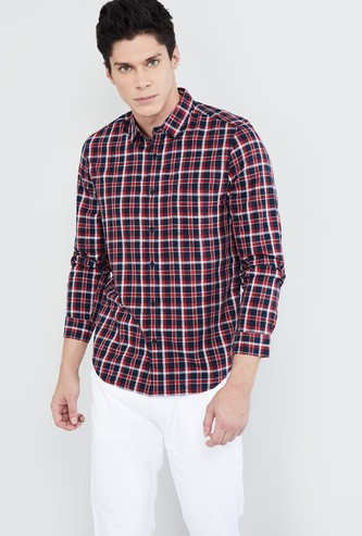 MAX Checked Cotton Casual Shirt