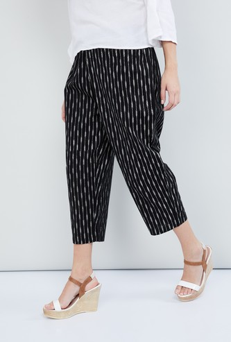 MAX Printed Elasticated Cropped Pants