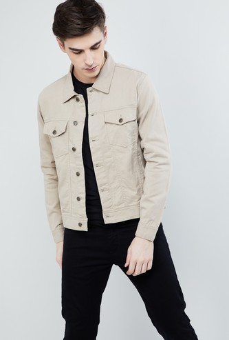 MAX Solid Buttoned Jacket