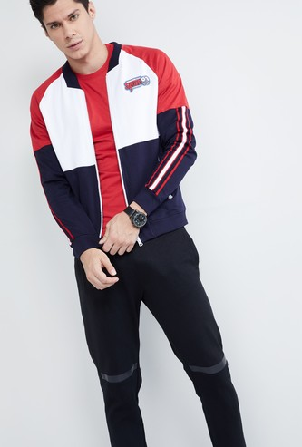 MAX Colour-Blocked Zip-Up Sweatshirt