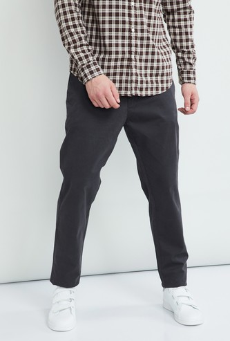 MAX Solid Smart Fit Casual Trousers