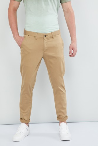 MAX Solid Flat-Front Skinny Chinos