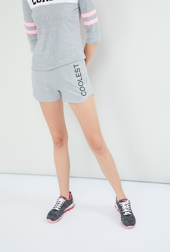 MAX Typographic Print Shorts