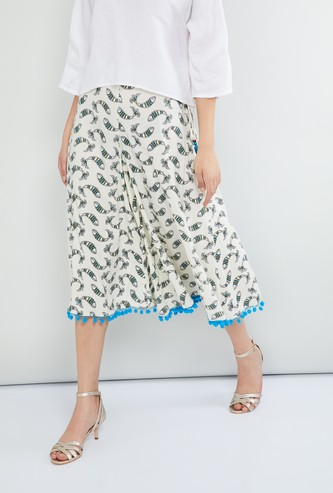 MAX Printed Flared Culottes